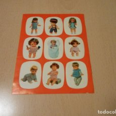Otras Muñecas de Famosa: FAMOSA RARISIMA TARJETA CATALOGO MUÑECA ELIANE TUNANTE CAROL COQUETA CHATUCA FAMOSIN ETC RARISIMA. Lote 147253614