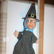 Otras Muñecas de Famosa: BRUJA *** ANTIGUO MUÑECO GUIÑOL / TÍTERE DE GOMA Y TELA *** MARCA FAMOSA. Lote 156049582