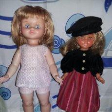 Otras Muñecas de Famosa: BONITA MUÑECA MARINA MEDIANA DE FAMOSA AÑOS 60 PESTAÑA DURA GORDA 45 CM CON LLORON. Lote 158603026