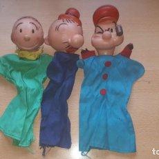 Otras Muñecas de Famosa: FAMOSA - 3 MARIONETAS POPEYE-OLIVA-PILON. Lote 159120418