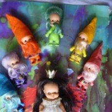 Otras Muñecas de Famosa: BARRIGUITAS CUENTOS BLANCANIEVES Y LOS ENANITOS (SE VENDEN 6 FALTA UNO) DE FAMOSA EPOCA NANCY. Lote 160639958