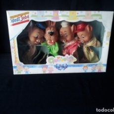 Otras Muñecas de Famosa: MARIONETAS DE FAMOSA, LOS TRES CERDITOS Y EL LOBO - EN SU CAJA - AÑOS 90. Lote 172190774