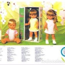 Otras Muñecas de Famosa: MUÑECA ELIANE ANDADORA DE FAMOSA AÑOS 60 COMO LA DEL CATALOGO COMPLETA DE ORIGEN SIN USO. Lote 172586819