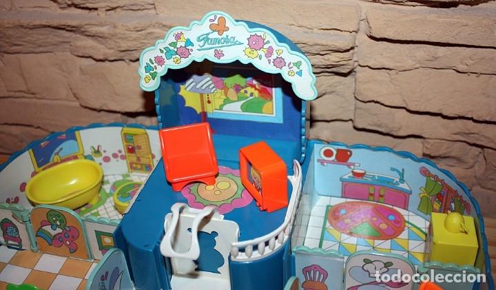 Otras Muñecas de Famosa: CASA MALETÍN DE PIN Y PON DE FAMOSA - MODELO AZUL - 2212 - MUY COMPLETO - BUEN ESTADO - DIFICIL - Foto 8 - 177835233