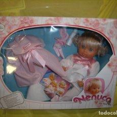 Otras Muñecas de Famosa: NENUCA NECUCO CON VESTIDOS, TROUSSEAU DE FAMOSA, AÑO 1988, NUEVA SIN ABRIR.. Lote 178324322