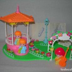 Otras Muñecas de Famosa: DIFÍCIL PARQUE CON MÚSICOS DE PINYPON COMPLETO - ORIGINAL 1ª VERSIÓN AÑO 1984 - PIN Y PON MUSIC PARK. Lote 179180232