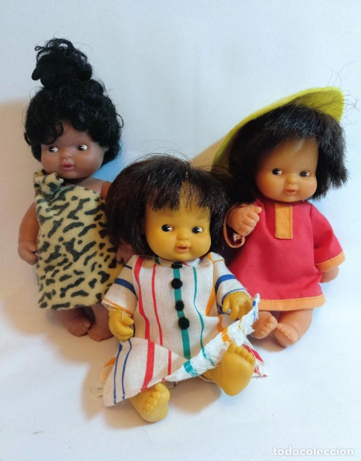 3 MUÑECAS BARRIGUITAS DE LOS 80. LOTE Nº11 (Juguetes - Muñeca Española Moderna - Otras Muñecas de Famosa)