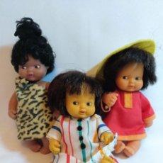 Otras Muñecas de Famosa: 3 MUÑECAS BARRIGUITAS DE LOS 80. LOTE Nº11. Lote 184049258