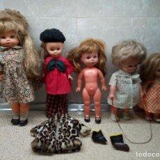 Otras Muñecas de Famosa: GRAN LOTE DE FAMOSA Y JESMAR, NANCY PINTORA, SALTARINA, COLETAS, CRECEPELO, LESLI, TODO ORIGINAL 70.. Lote 191263870