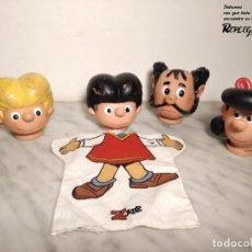 Otras Muñecas de Famosa: MARIONETAS ZIPI Y ZAPE, DON PANTUFLO Y DOÑA JAIMITA DE FAMOSA AÑOS 70, BRUGUERA. Lote 192065655