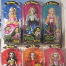 Otras Muñecas de Famosa: PRINCESAS ZOMBIES DE FAMOSA, LOTE COMPLETO COMPUESTO DE SUS 6 MUÑECAS NUEVAS EN CAJA AÑO 2012. Lote 193433412