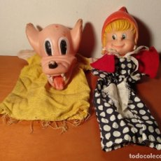 Otras Muñecas de Famosa: MARIONETAS DE FAMOSA - CAPERUCITA ROJA Y EL LOBO - GUIÑOL - TITERE - TITELLA - AÑOS 70 - VER FOTOS. Lote 194223148