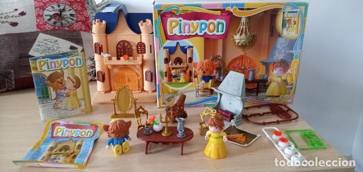 PINYPON LA BELLA Y LA BESTIA DE FAMOSA AÑO 2002 CASI COMPLETO (Juguetes - Muñeca Española Moderna - Otras Muñecas de Famosa)