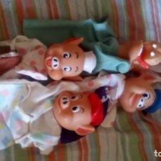Otras Muñecas de Famosa: MARIONETA MARIONETAS FAMOSA MUÑECA MUÑECO LOS TRES CERDITOS Y EL LOBO GUIÑOL TITERE TITERES. Lote 195238240