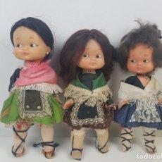 Otras Muñecas de Famosa: LOTE DE 3 MUÑECAS RAPACIÑA DE FAMOSA REGIONALES. Lote 202900740