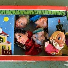 Otras Muñecas de Famosa: TEATRO GUIÑOL FAMOSA . CINCO PERSONAJES CON SUS GOMAS DE SUJECCION . CAJA Y FUNDA . BIEN CONSERVADO. Lote 204608962