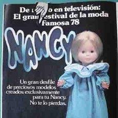 Otras Muñecas de Famosa: ANUNCIO MUÑECAS FAMOSA NANCY , PULGARCITO Nº 2482 SHERIFF KING. Lote 206356170
