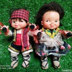 Otras Muñecas de Famosa: LOTE 2 MUÑECOS FAMOSA TRAJES REGIONALES TIPICOS. Lote 210397413