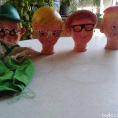 Otras Muñecas de Famosa: MARIONETAS ( CABEZAS ) CHIRIPITIFLAUTICOS AÑOS 70. Lote 221265593