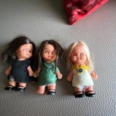 Otras Muñecas de Famosa: 3 MUÑECAS MORENA RUBIA TIN TAN FAMOSA AÑOS 70 ORIGINAL. Lote 222203373