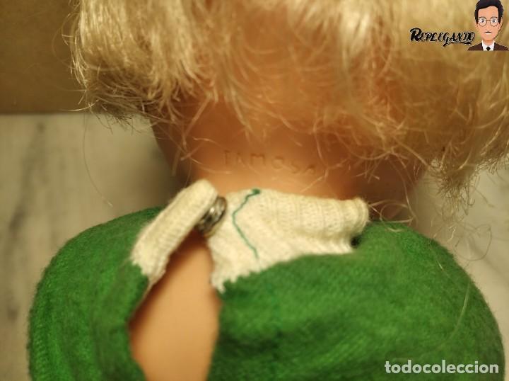 Otras Muñecas de Famosa: ANTIGUA MUÑECA FAMOSA DE 26 CENTÍMETROS (AÑOS 70) PESTAÑAS PINTADAS / GORRO Y VESTIDO VERDE - Foto 8 - 232497580