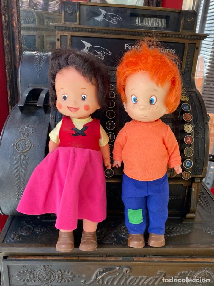HEIDI Y PEDRO MUÑECOS DE FAMOSA (Juguetes - Muñeca Española Moderna - Otras Muñecas de Famosa)