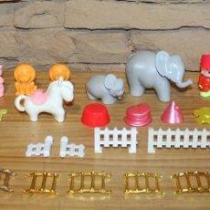 Otras Muñecas de Famosa: PIN Y PON - CIRCO - LOTE DESPIECE: ANIMALES, MUÑECOS, ACCESORIOS, VALLAS, TAQUILLA, VESTIDOS.... Lote 235711410