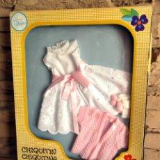 Otras Muñecas de Famosa: ANTIGUO CONJUNTO MUÑECO CHIQUITIN O CHIQUITINA, DE FAMOSA - NUEVO Y EN SU CAJA ORIGINAL. Lote 247494430