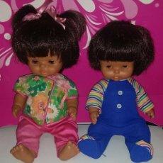 Otras Muñecas de Famosa: LOTE DE BONITOS Y ANTIGUOS CHIQUITINES MULATOS DE FAMOSA AÑOS 70. Lote 248485045