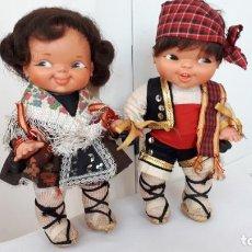 Otras Muñecas de Famosa: PAREJA DE GEMELINES REGIONALES DE FAMOSA. Lote 249587860
