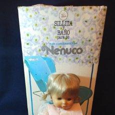 Otras Muñecas de Famosa: MUÑECA NENUCA DE LOS 80 CON SU BAÑERA Y SU SILLITA,TODO ORIGINAL DE FAMOSA. Lote 253910600