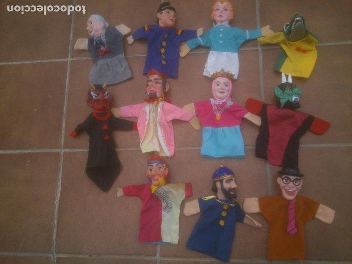 LOTE ANTIGUO GUIÑOL, MARIONETA, DE FAMOSA. (Juguetes - Muñeca Española Moderna - Otras Muñecas de Famosa)