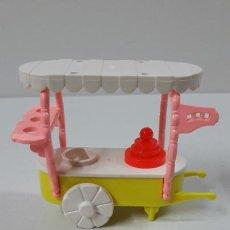 Otras Muñecas de Famosa: CARRITO DE HELADOS Y COMPLEMENTOS DE PIN Y PON . REALIZADOS POR FAMOSA . ORIGINAL AÑOS 80. Lote 270106223