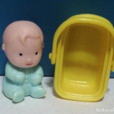 Otras Muñecas de Famosa: BEBE PIN Y PON ANTIGUO CON CESTA. Lote 270352258