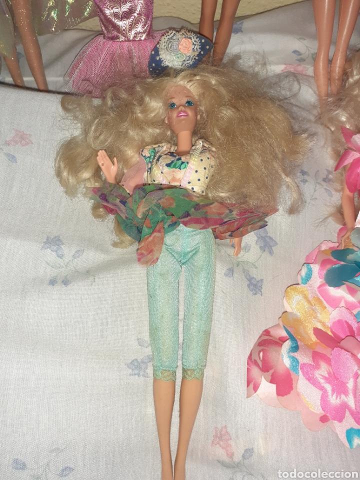 Otras Muñecas de Famosa: Lote 8 antiguas muñecas con sus vestidos - Foto 5 - 278537068