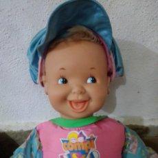 Otras Muñecas de Famosa: COMPI DISCO DOS CARAS DE FAMOSA MUÑECA ANTIGUA. Lote 279564383