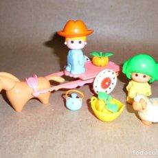 Altre Bambole di Famosa: GRANJERO CARRO - PIN Y PON DE FAMOSA - REF 2227 - CARRITO - 1984 - AÑOS 80. Lote 286349638