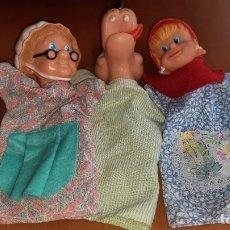 Otras Muñecas de Famosa: 3 MARIONETAS ANTIGUAS CAPERUCITA ROJA FAMOSA. Lote 286997978
