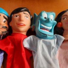 Otras Muñecas de Famosa: LOTE MARIONETAS ALADDIN, JAFAR, GENIO Y JASMINE. Lote 286999593