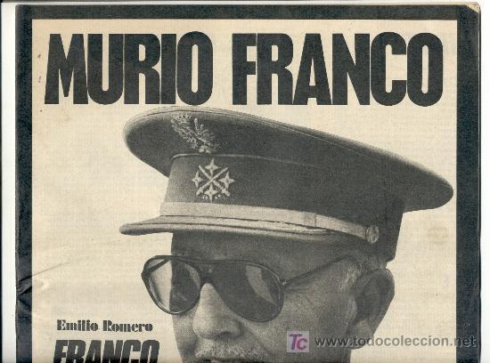 DIARIO 'ARRIBA'. 20 NOVIEMBRE 1975. 4ª EDICIÓN ESPECIAL. MUERTE DE FRANCO. ENVÍO: 2,50 € *. (Coleccionismo Deportivo - Revistas y Periódicos - Marca)