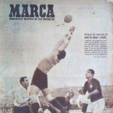 Coleccionismo deportivo: SEMANARIO DEPORTIVO MARCA - AÑO 1947 - EN PORTADA: EL PARTIDO INTERNACIONAL ENTRE ESPAÑA Y PORTUGAL. Lote 23226026