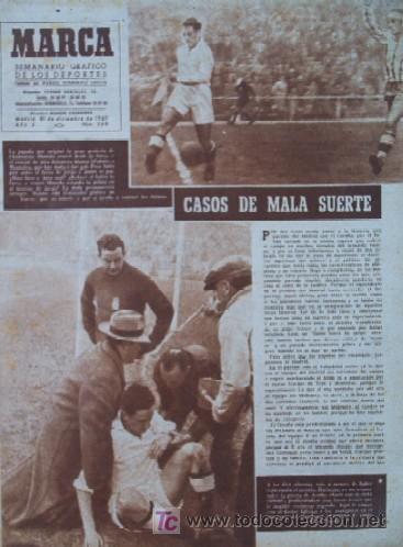 SEMANARIO DEPORTIVO MARCA - AÑO 1949 - EN PORTADA: EL PARTIDO REAL MADRID - DEPORTIVO DE LA CORUÑA (Coleccionismo Deportivo - Revistas y Periódicos - Marca)