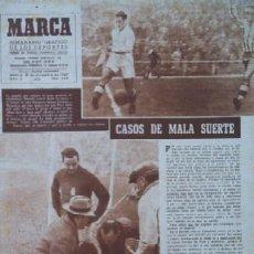 Coleccionismo deportivo: SEMANARIO DEPORTIVO MARCA - AÑO 1949 - EN PORTADA: EL PARTIDO REAL MADRID - DEPORTIVO DE LA CORUÑA. Lote 26752416