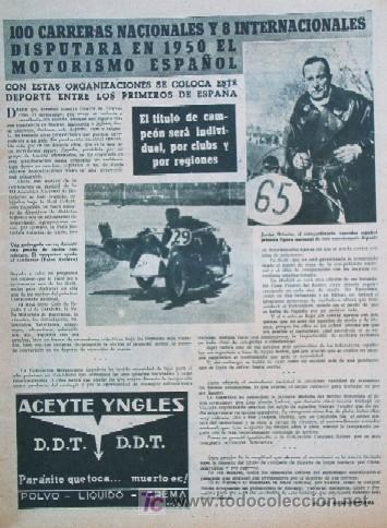Coleccionismo deportivo: SEMANARIO DEPORTIVO MARCA - Año 1949 - En Portada: EL PARTIDO REAL MADRID - DEPORTIVO DE LA CORUÑA - Foto 4 - 26752416
