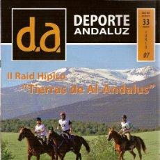 Coleccionismo deportivo: REVISTA 'DEPORTE ANDALUZ', Nº 33. JUNIO 2007.. Lote 23227915