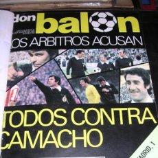 Coleccionismo deportivo: REVISTA ENCUADERNADA, DON BALON 1976 AÑO II Nº 51 AL Nº60, COMPLETA. Lote 13425049