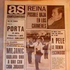 Collectionnisme sportif: - 1.975 DIARIO AS. (NO COLOR) = = N.º 2336 = = PELE EL REY MIDAS DEL FUTBOL =. Lote 6594803