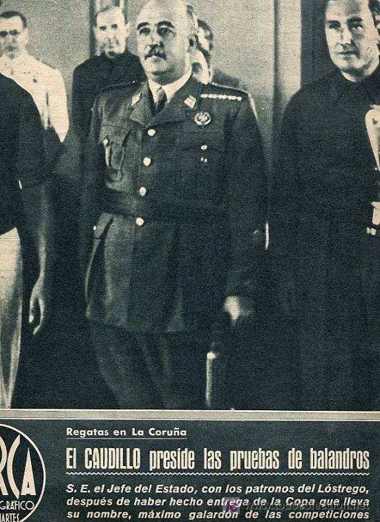 MARCA. SUP. GRAFICO DE LOS MARTES 10 AGOSTO 1943 Nº 37. CAUDILLO PRESIDE PRUEBAS BALANDROS CORUÑA (Coleccionismo Deportivo - Revistas y Periódicos - Marca)