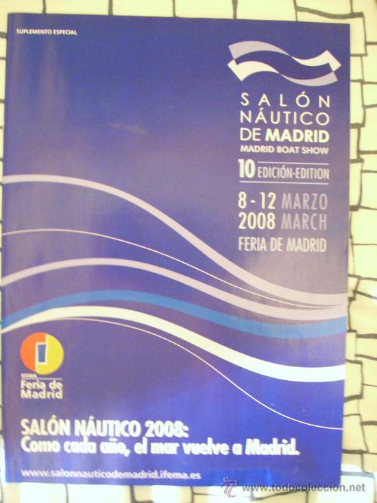 FOLLETO DEL 10 SALÓN NÁUTICO DE MADRID. 22 PÁGINAS. (Coleccionismo Deportivo - Revistas y Periódicos - As)