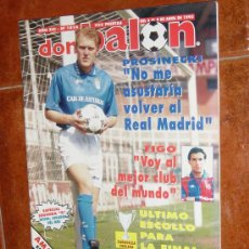 Coleccionismo deportivo: DON BALON Nº 1016, ABRIL 1995. POSTER AMAVISCA.ZARAGOZA-CHELSEA. FIGO. PROSINECKI. Lote 10407486